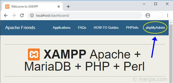 Opening phpMyAdmin in Your Browser