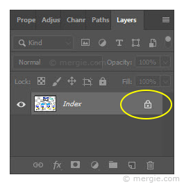 Photoshop - Locked Image (Layer)