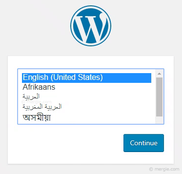 WordPress Installation - Setting the Language Option