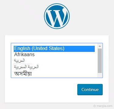 WordPress Installation - Setting the Language Option