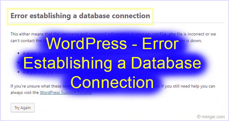WordPress - Error Establishing a Database Connection (Featured Image)