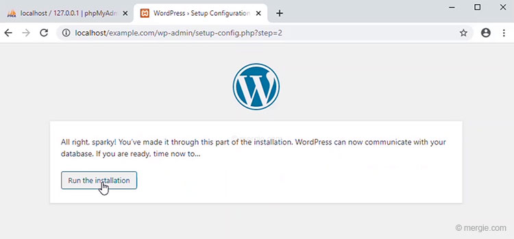 Install WordPress - Run the Installation