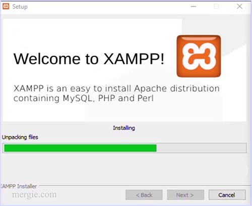 Installing the Testing Server - Unpacking and Installing - XAMPP