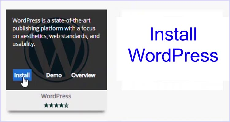The Web Hosting Control Panel App - WordPress Installation