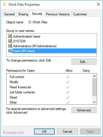 Windows - File Security & Permissions