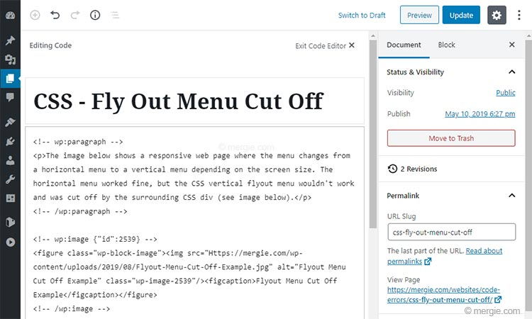 WordPress Global Search & Replace - Paste the Updated HTML Text into the WordPress Document