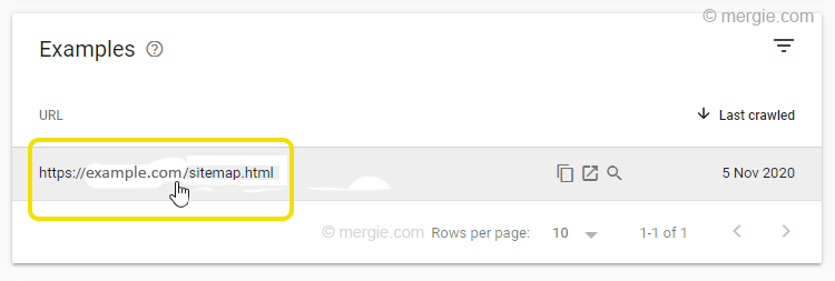Google Search Console - Submitted URL Marked 'noindex' (Example)