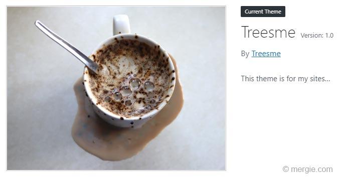 WordPress Theme - Displaying the Theme Details